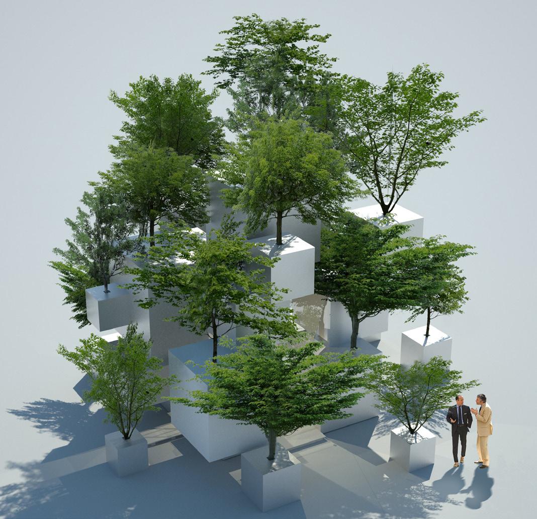 Sou Fujimoto, Stacking Tree Pots
