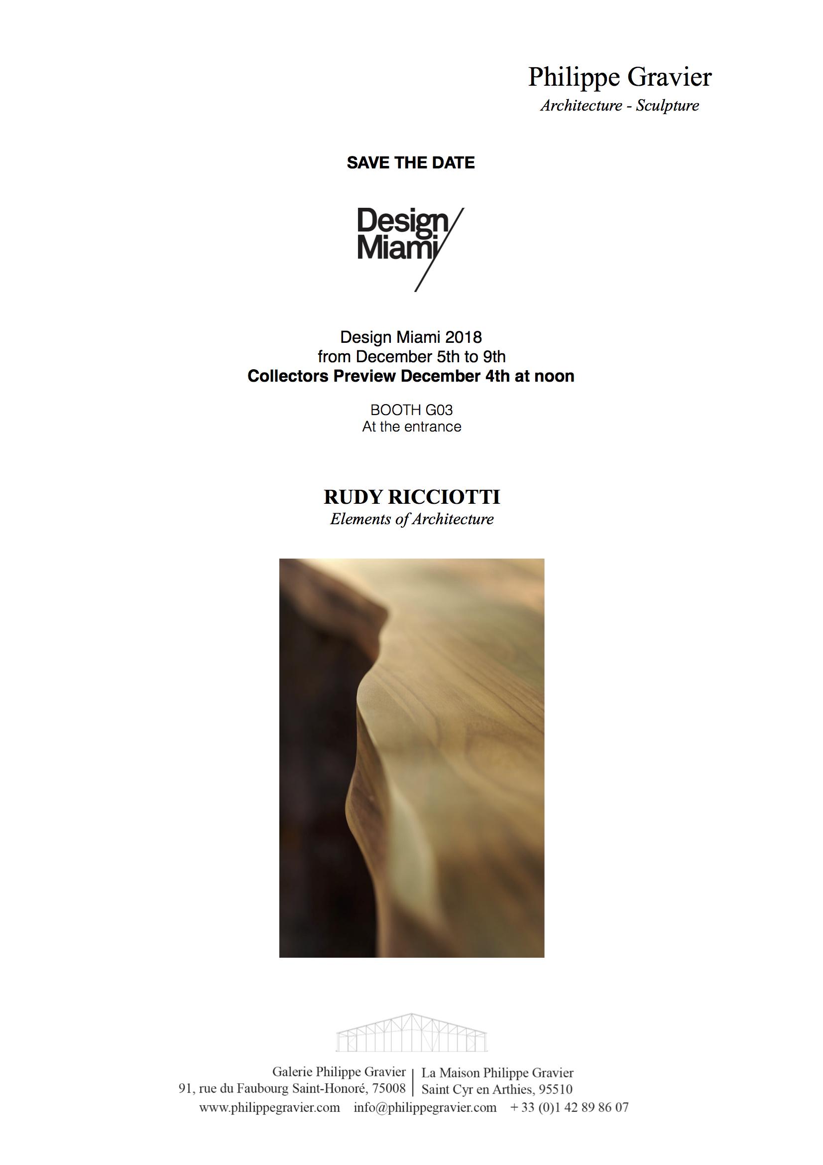 Design/Miami 2018, Rudy Ricciotti