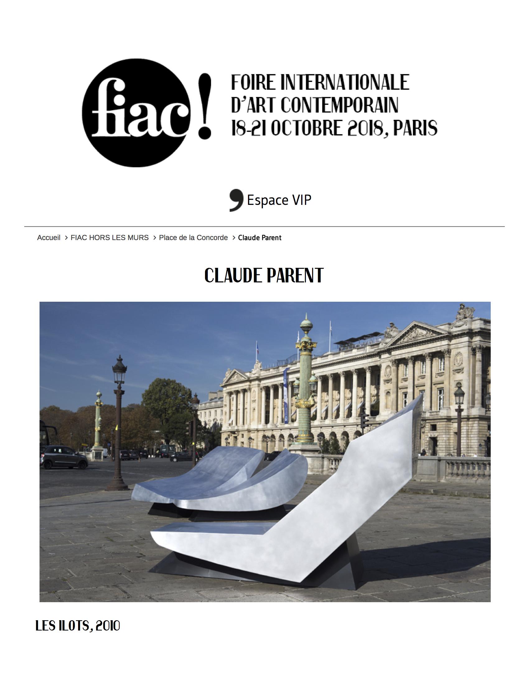 FIAC 2018, Claude Parent