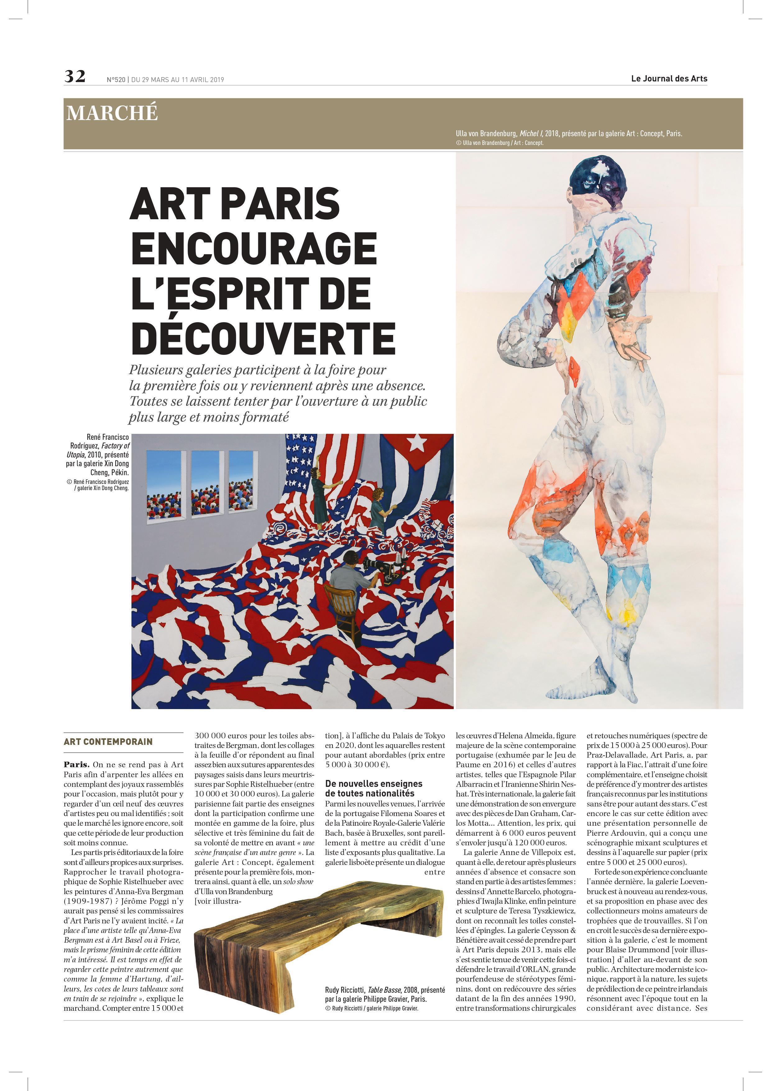 Le Journal des Arts – Art Paris 2019
