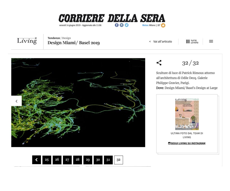 Corriere Della Sera – Design Miami/ Basel 2019 (At Large)
