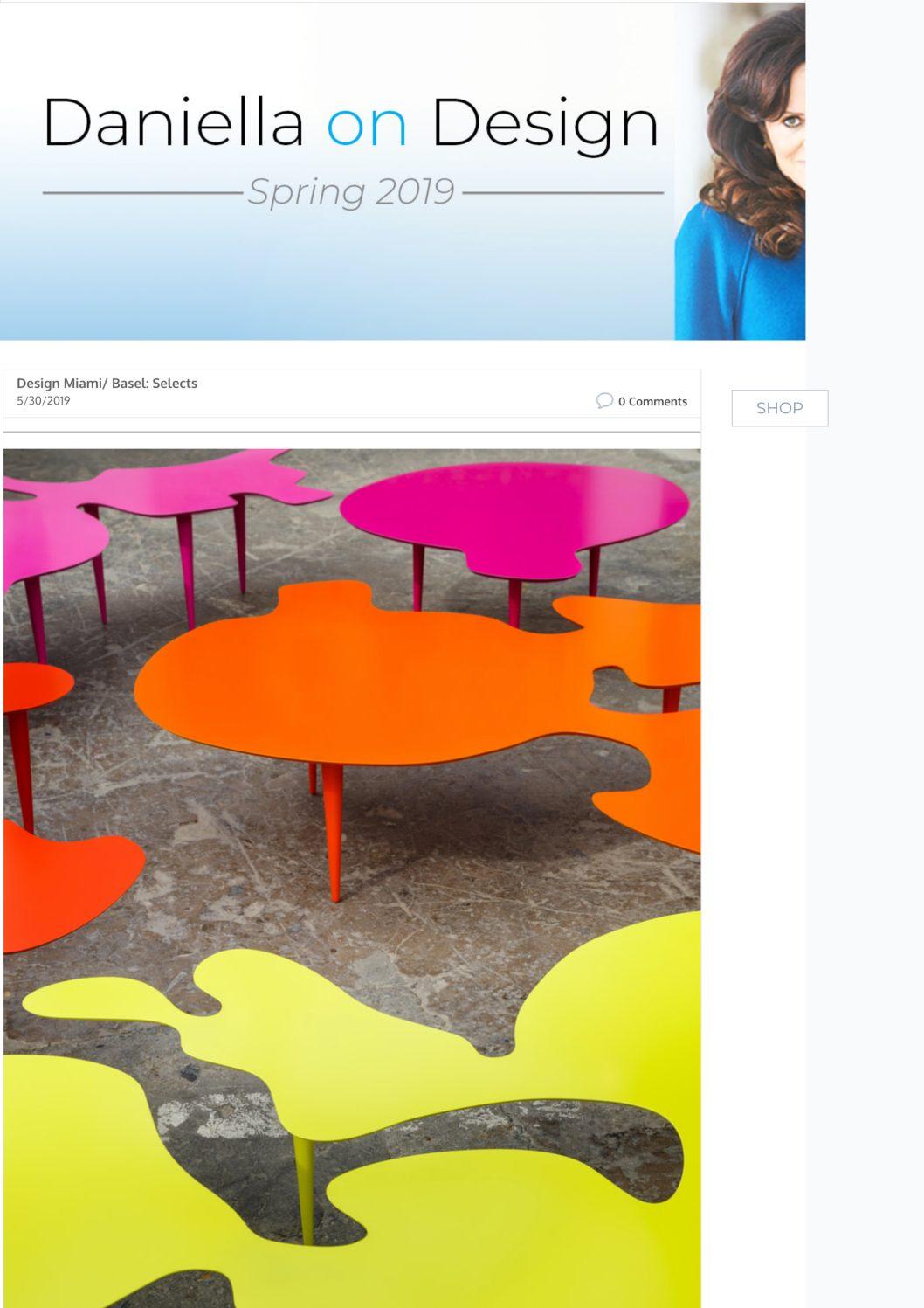 Daniella on Design – Design Miami/ Basel 2019