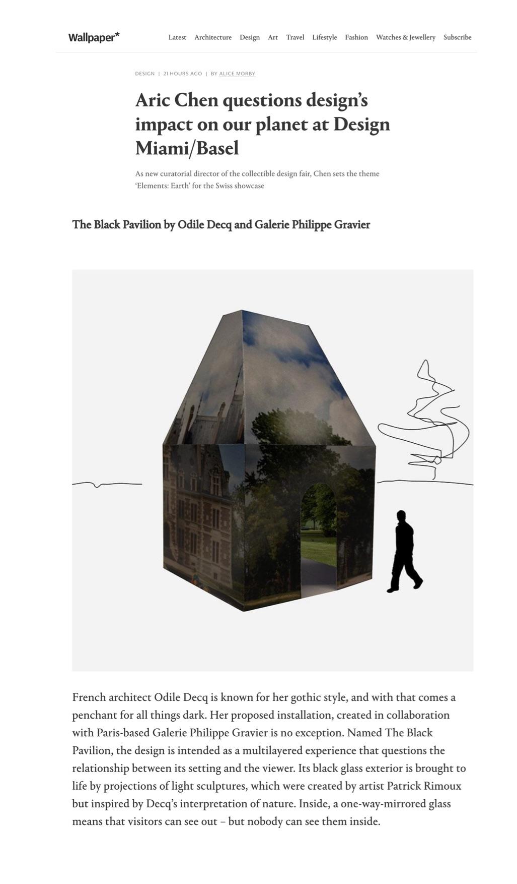 Wallpaper – Design/Miami Basel 2019 (At Large)