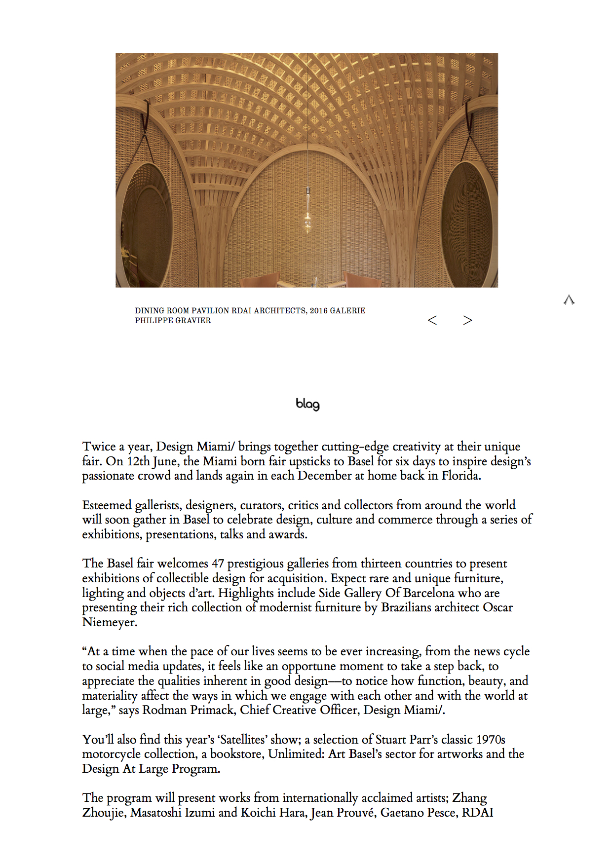 Blag Magazine – Design Miami/Basel 2018