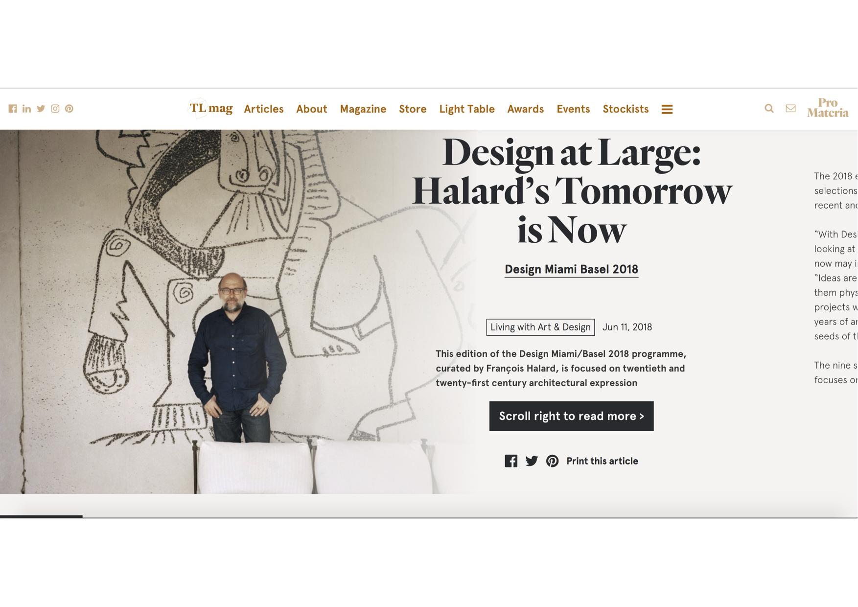 TL mag – Design Miami/Basel 2018