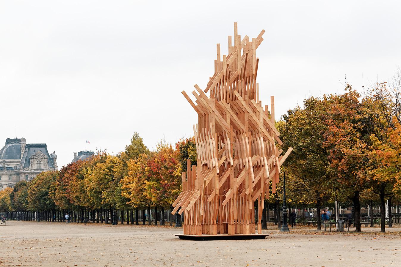 Kengo Kuma aux Tuileries – FIAC Hors les murs 2015