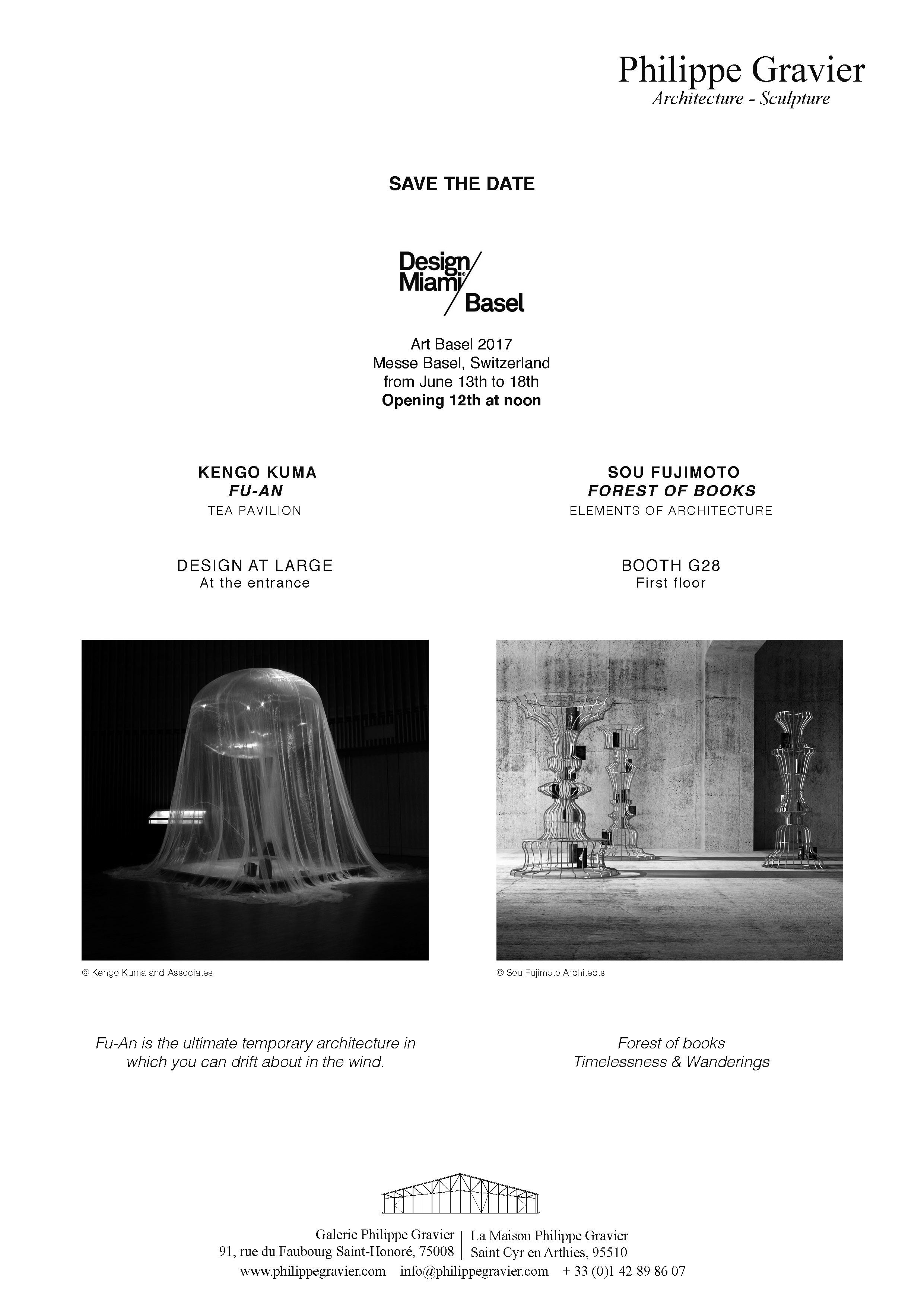 Design Miami/Basel 2017, Sou Fujimoto
